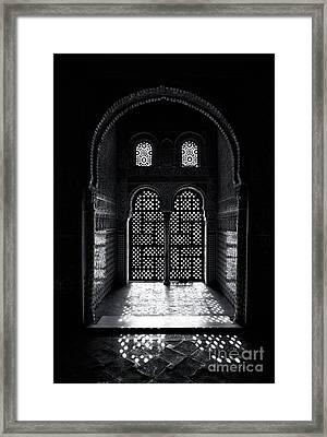 Ornate Alhambra Window Framed Print by Jane Rix
