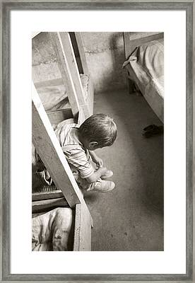 Orphan Kathmandu Nepal Framed Print by Luke Golobitsh