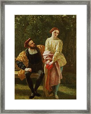 Orsino And Viola Framed Print by Frederick Richard Pickersgill