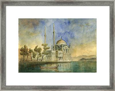 Ortakoy Mosque Istanbul Framed Print by Juan Bosco