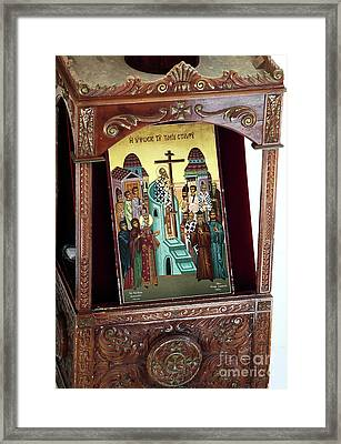 Orthodox Icon Framed Print by John Rizzuto