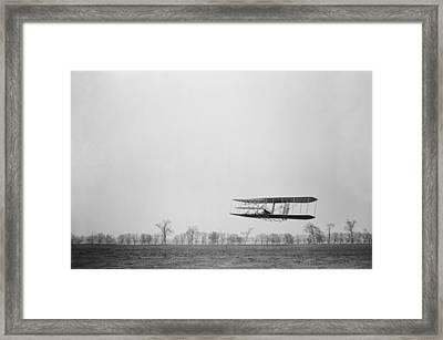 Orville Wright 1871-1948 In Flight Framed Print by Everett