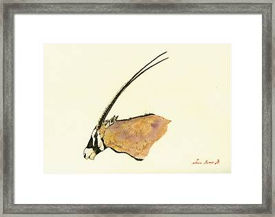 Oryx Framed Print by Juan  Bosco