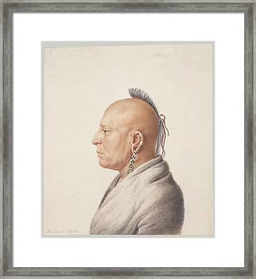 Osage Warrior Framed Print by Charles Balthazar