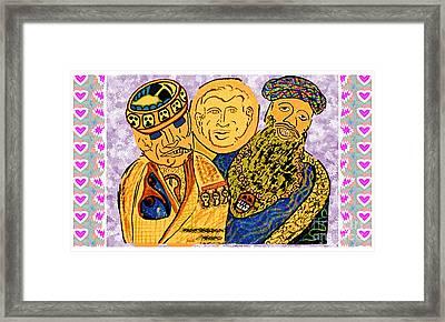 Osama Bin Laden Dick Chenny And George Bush Era Cartoons By Navinjoshi Framed Print by Navin Joshi