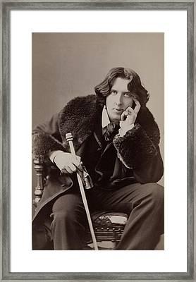 Oscar Wilde, 1854-1900 Irish Writer Framed Print by Everett