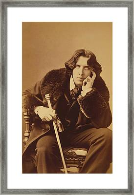 Oscar Wilde - Irish Author And Poet Framed Print by War Is Hell Store