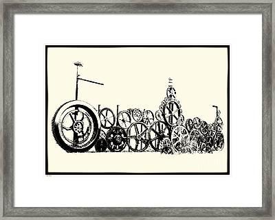 Osgood's Clock Repair Framed Print by Mim White