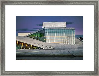 Oslo Opera House Framed Print by Adam Rainoff
