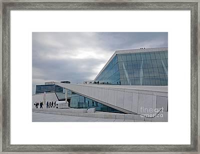 Oslo Opera House Framed Print by Andrea Simon