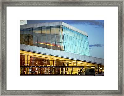 Oslo Opera House Entrance Framed Print by Adam Rainoff