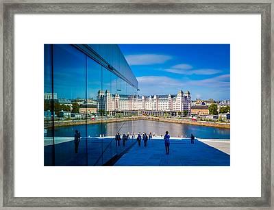 Oslo Reflection Framed Print by Kristina Jakubikova
