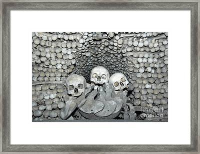 Ossuary Framed Print by Michal Boubin
