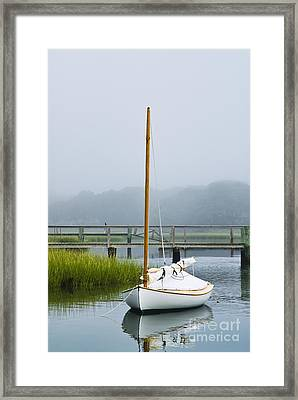 Osterville Sailboat Framed Print by John Greim