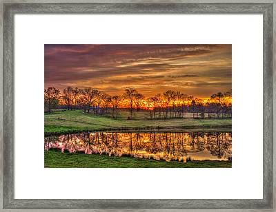 Other Worldly Sunrise Reflections   Framed Print by Reid Callaway