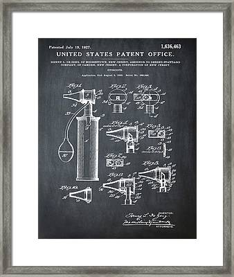 Otoscope Patent 1927 Chalk Framed Print by Bill Cannon