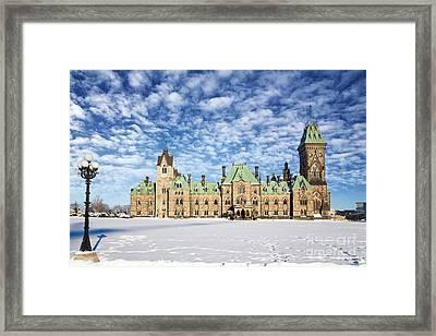 Ottawa Parliament East Block Framed Print by Jane Rix