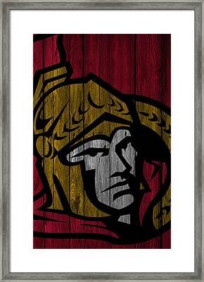 Ottawa Senators Wood Fence Framed Print by Joe Hamilton