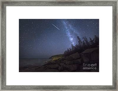 Otter Cove Meteor Framed Print by Marco Crupi