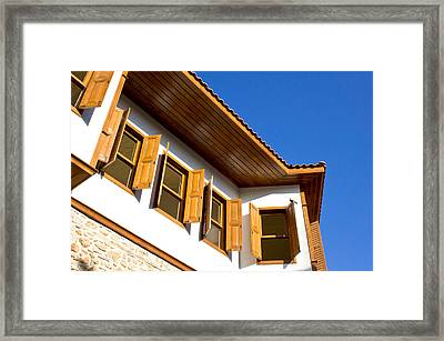 Ottoman Houses Framed Print by Tom Gowanlock