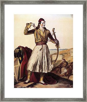 Ottomans Greeks Framed Print by Louis