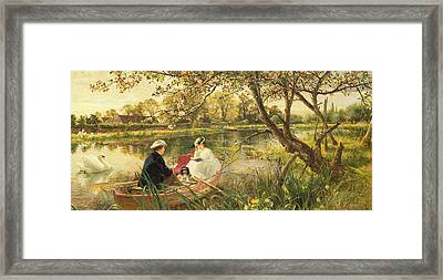 Our Holiday Framed Print by Charles James Lewis