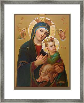 Our Lady Of Perpetual Help - Perpetuo Socorro Framed Print by Svitozar Nenyuk
