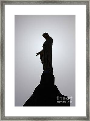 Our Lady Of The Mountain Silhouette Framed Print by Susan Isakson