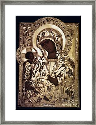 Our Lady Of Yevsemanisk Framed Print by Granger