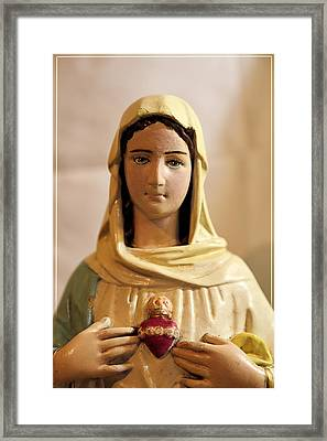 Our Lady Framed Print by Theresa Campbell