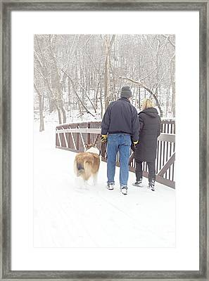 Our Love Will Keep Us Warm Framed Print by Larry Ricker