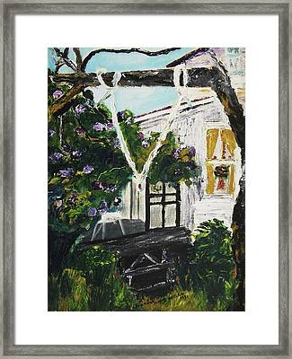 Our Porch Framed Print by Suzanne  Marie Leclair