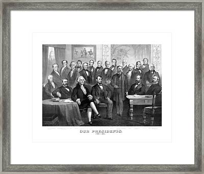 Our Presidents 1789-1881 Framed Print by War Is Hell Store
