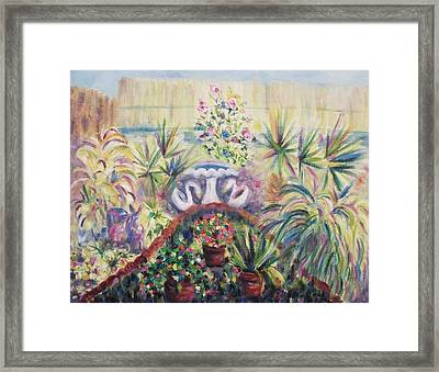 Our Private Yard Framed Print by Suzanne  Marie Leclair