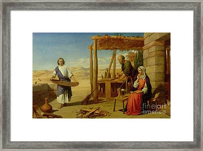 Our Saviour Subject To His Parents At Nazareth Framed Print by John Rogers Herbert