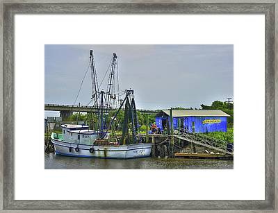 Our Shrimp Come From Here Tybee Island Framed Print by Reid Callaway