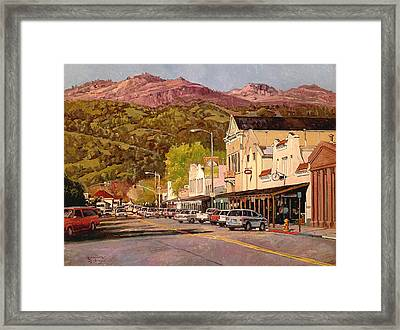 Our Town Framed Print by Paul Youngman