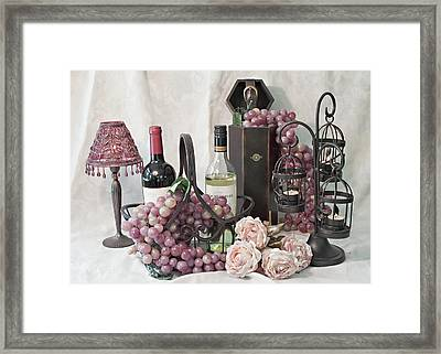 Our Wine Cellar Framed Print by Sherry Hallemeier