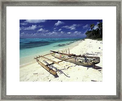 Outrigger Canoe Framed Print by Sean Davey