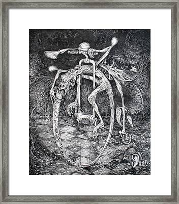 Ouroboros Perpetual Motion Machine Framed Print by Otto Rapp