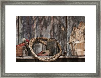 Out In The Barn Iv Framed Print by Tom Mc Nemar