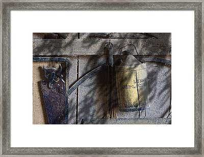 Out In The Barn Framed Print by Tom Mc Nemar