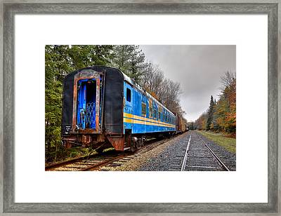 Out Of Commission In Autumn Framed Print by David Patterson