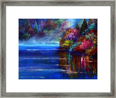Out Of The Blue Framed Print by Ann Marie Bone