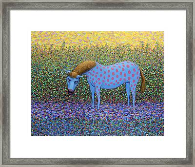 Out Of The Pasture Framed Print by James W Johnson