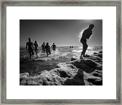 Out Of The Plunge Framed Print by Josh Eral