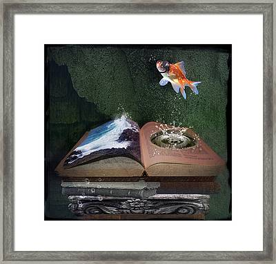 Out Of The Pond Framed Print by Mary Hood