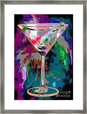Out Of This World Martini Framed Print by Jon Neidert