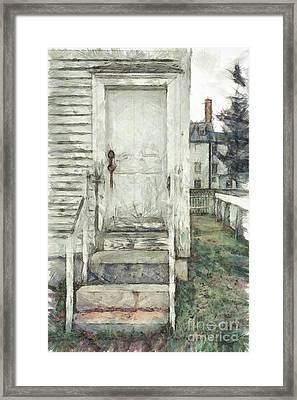 Out The Back Door Pencil Framed Print by Edward Fielding