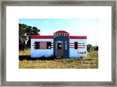 Out To Lunch On Route 66 Framed Print by Mel Steinhauer